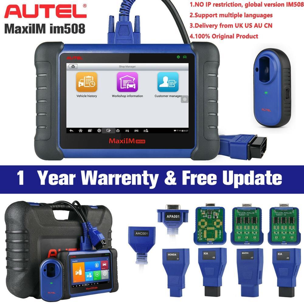 Autel MaxiIM IM508 Car Key Programmer IMMO Service & OBD2 Diagnostic Tool Upgrade of Auro OtoSys IM100|Auto Key Programmers| - AliExpress
