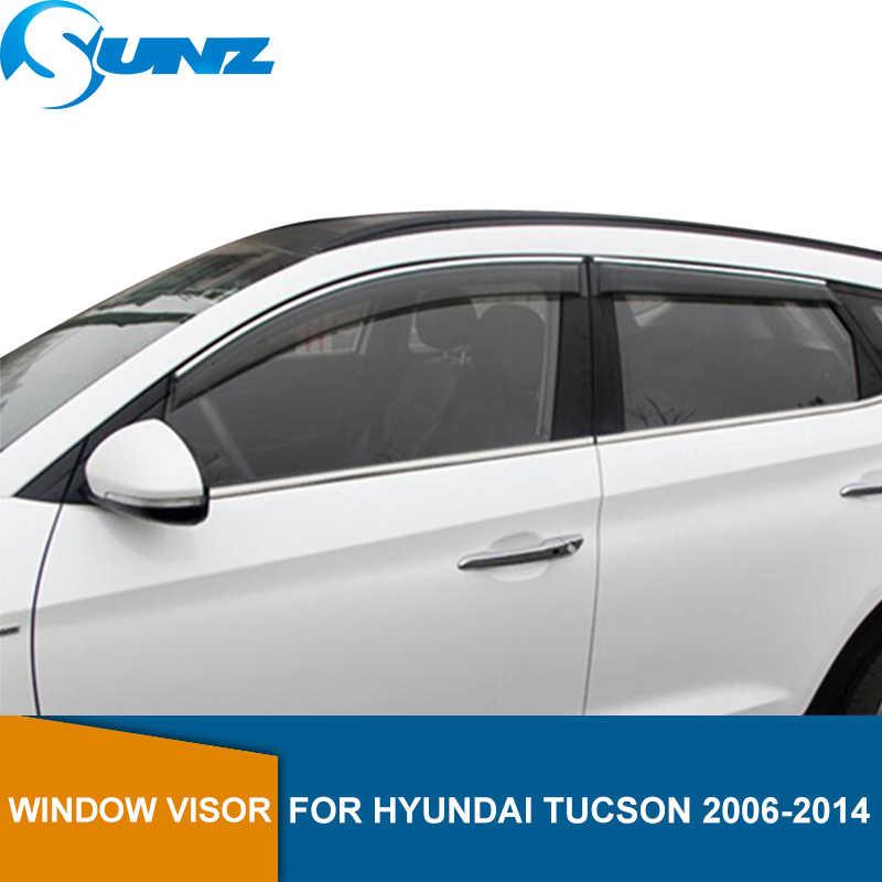 4pcs Visor Rain Guards Wind Deflector For Hyundai Tucson 2010-2015 10-15 GL GLS