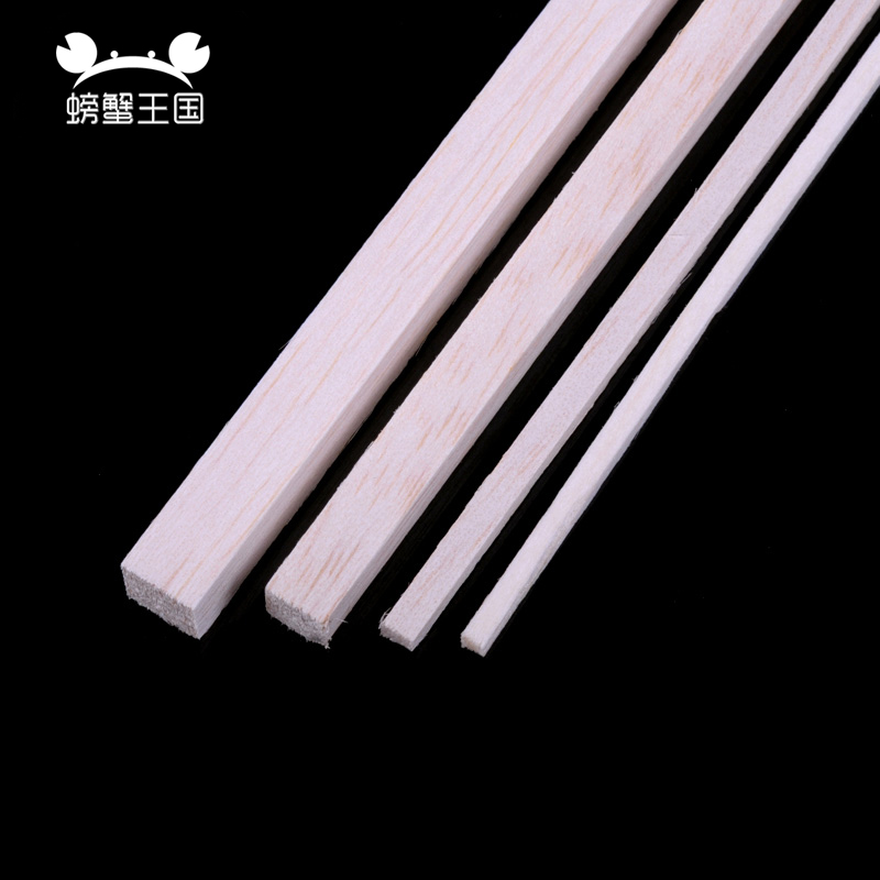 20pcs/lot 250mm Long 3x3/4x4/5x5/8x8/10x10mm Square Wooden Bar Balsa Wood Sticks Strips For Airplane/boat Model DIY