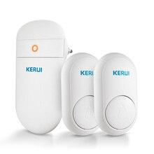 KERUI sonnette de porte sans fil M518, auto génération, sécurité domestique intelligente, avec bouton, lumière LED, 52 chansons