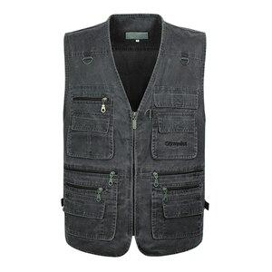 Image 3 - 5XL 6XL 7XL Nieuwe Mannelijke Toevallige Zomer Grote Size Katoen Mouwloos Vest Met Vele 16 Zakken Mannen Multi Pocket Foto vest