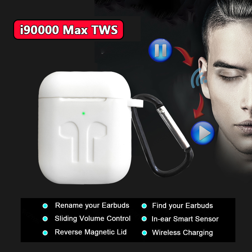 New i90000 Max TWS Arie 2 In-ear Sensor Wireless <font><b>Earphone</b></font> <font><b>8D</b></font> Super Bass Bluetooth 5.0 Earbuds i30000 tws pk h1 Chip i5000 i9000 image