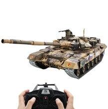 1:16 러시아어 t90 주요 전투 탱크 2.4g 원격 제어 모델 탱크 사운드 연기 촬영 효과 금속 궁극적 인 버전 러시아