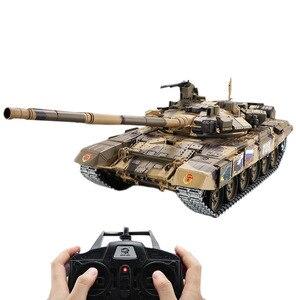 Image 1 - Tanque de batalla principal T90 de 2,4G con Control remoto, tanque con sonido y efecto de disparo de humo, Metal, edición definitiva, Rusia, 1:16
