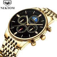 NEKTOM 2019 new Korean students creative sports and leisure quartz watch business men's watch waterproof stainless steel clock