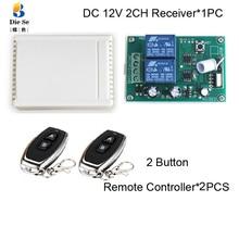 433 МГц переключатель дистанционного управления DC 12 В 2CH релейный модуль приемника RF для электрического двигателя с положительным и отрицательным контролем тока