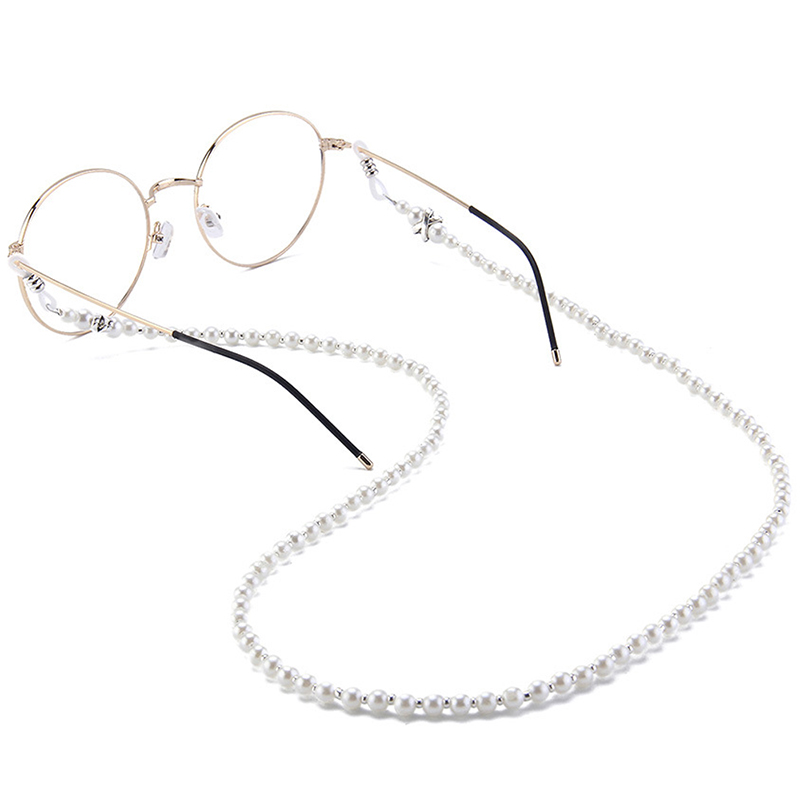 New Multi layer White Pearl Sunglasses Chain Women Sexy Chain For Sunglasses Chic Eyeglasses Reading Glasses Chain Cord Holder in Eyewear Accessories from Apparel Accessories