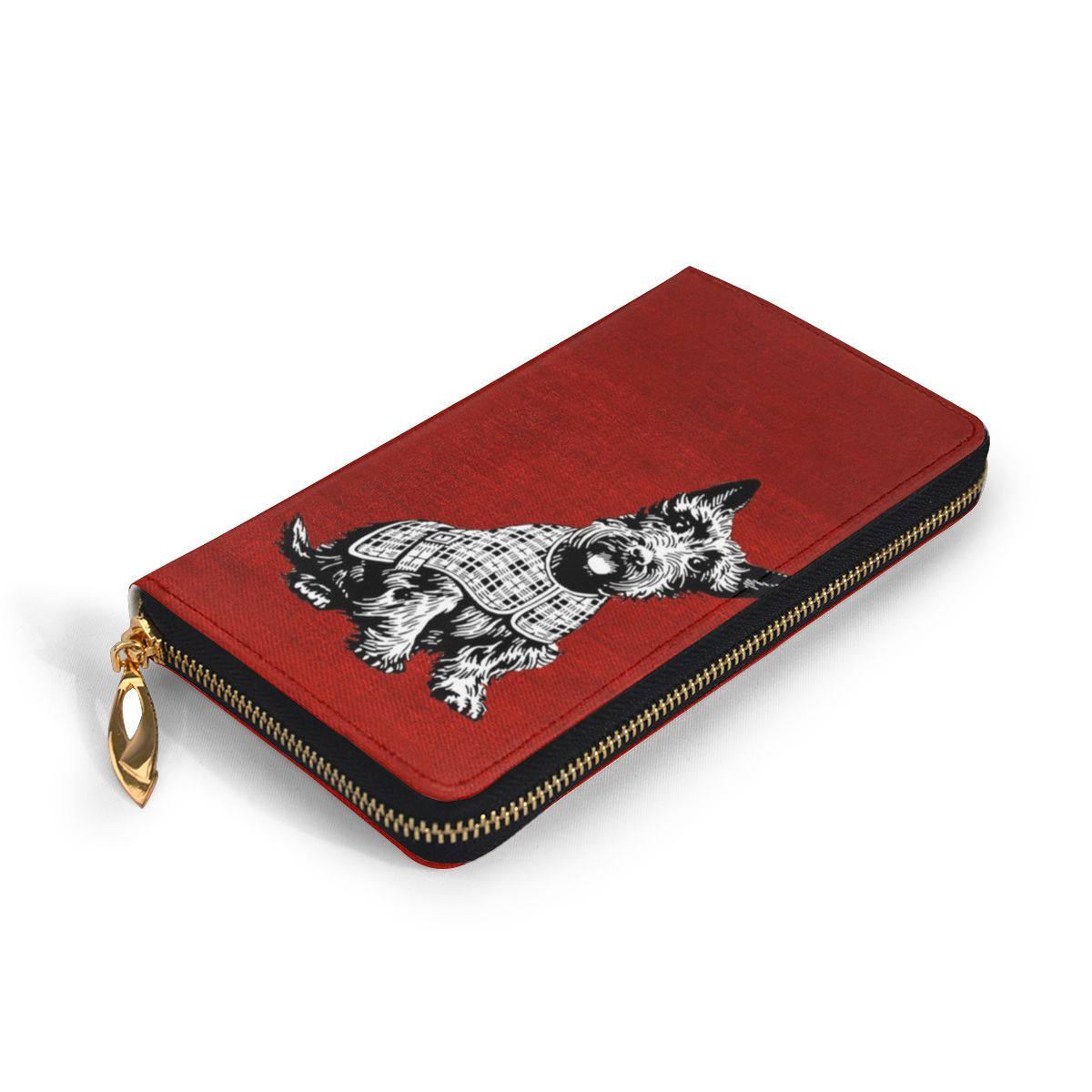 NOISYDESIGNS Women Genuine Leather Wallets Westie Dog Print Leather Clutch Bag Womens High Quality Girls Purses Carteras Mujer