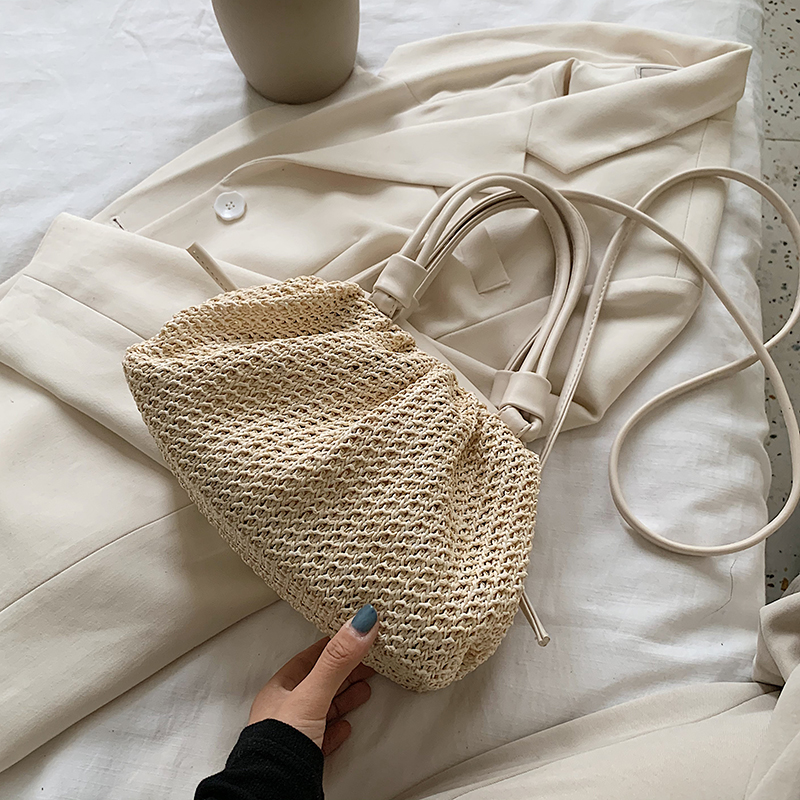 Summer Weave Cloud Bags For Women 2020 Fashion Small Tote Bag Lady Crossbody Shoulder Handbags Lady Beach Cross Body Bags