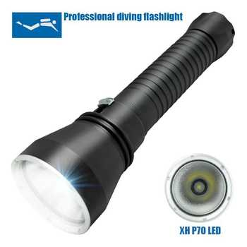 Powerful XHP70 Led Diving Flashlight 3500LM Underwater 130M Waterproof Dive Torch Scuba Lantern Lamp By 26650/18650 Battery