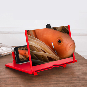 Image 2 - 12inch Mobile Phone Bracket Screen Amplifier Foldable Eye Protection Portable Enlarged Desktop Holder 3D Magnifying Stand HD