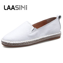 LAASIMI Espadrilles Women Flats Shoes Casual Solid Woman Basic Ladies Fashion Female Plus Size 35-41