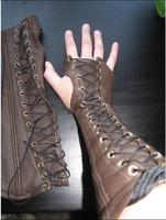 Medieval Bracers PU gloves Lace up