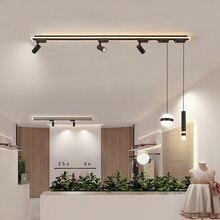 Moderne LED Luminaires de Lustre Salle à manger Restaurant suspension bureau luminaires Bar éclairage étude lampes noires 90v-260v
