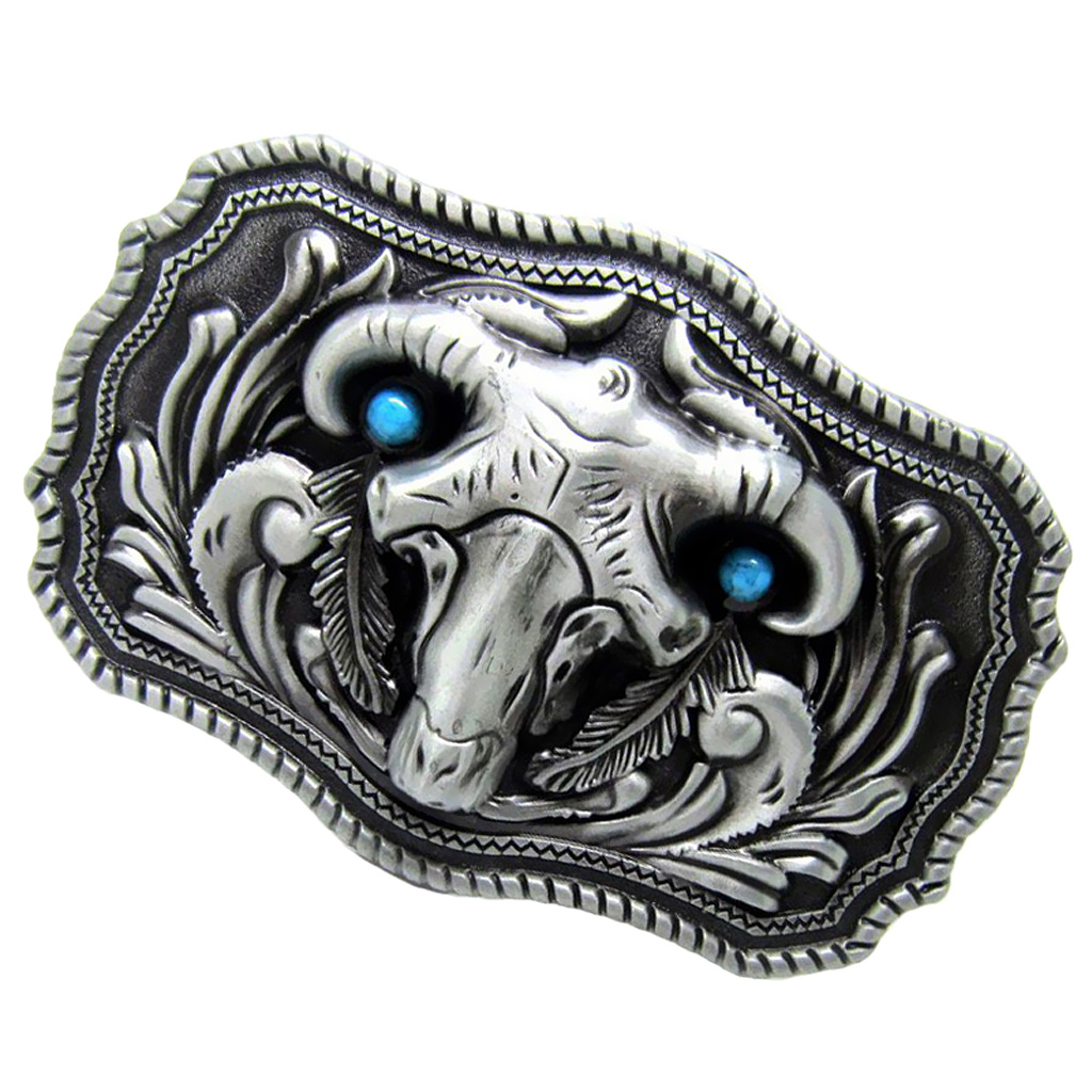 Vintage Cow Head Mens Belt Buckle Western Cowboy Belt Buckle
