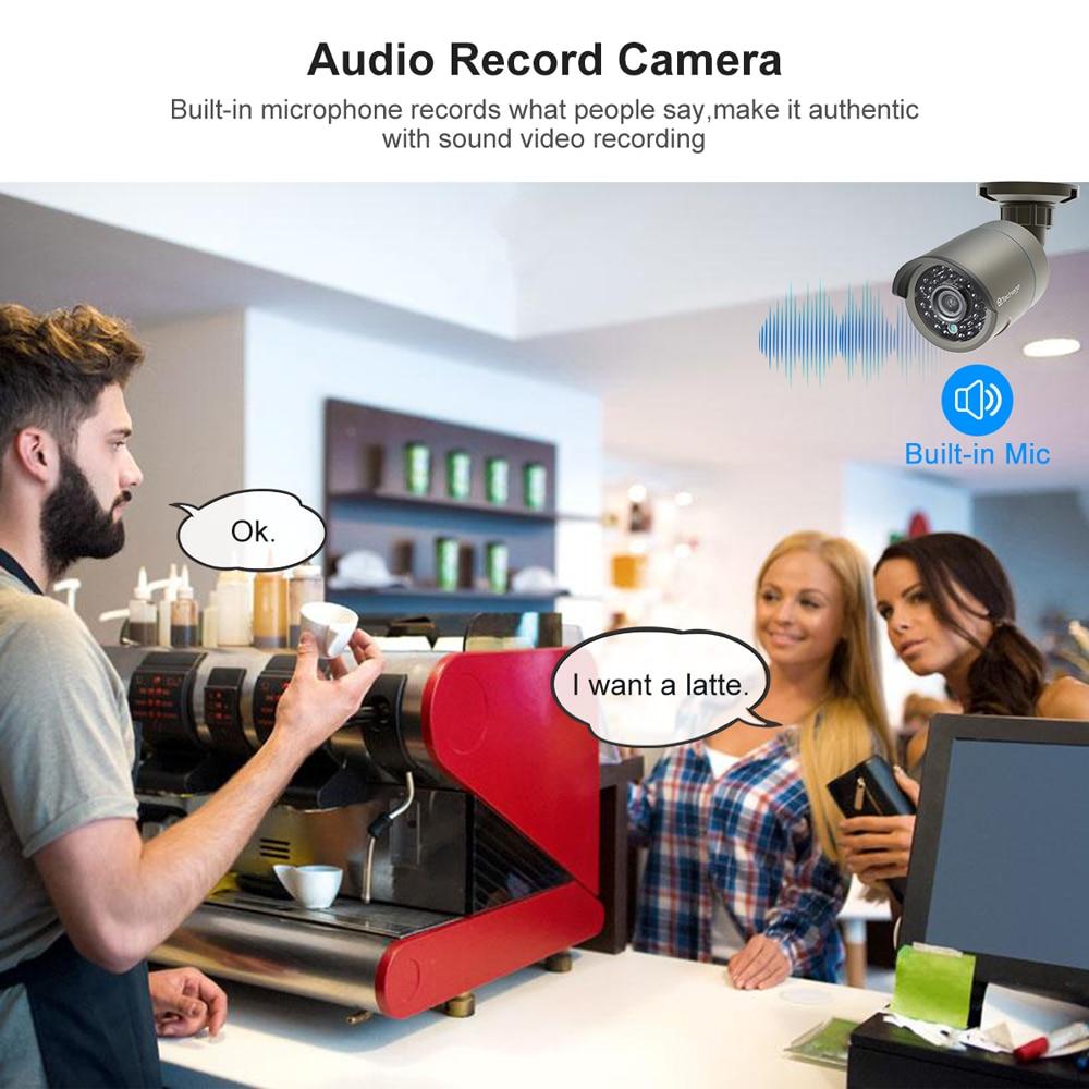 Techage H.265 8CH 1080P HDMI POE NVR Kit système de sécurité CCTV 2.0MP IR enregistrement Audio extérieur caméra IP P2P ensemble de Surveillance vidéo - 3