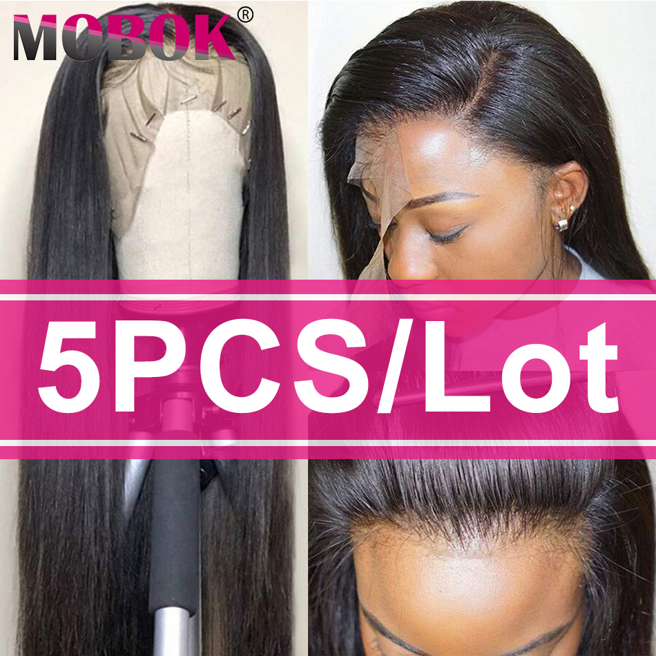 Mobok Lace Front Human Hair Wigs Brazilian Human Hair Wigs Straight 360 Lace Frontal Wig For Black Women Remy Lace Wig Wholesale