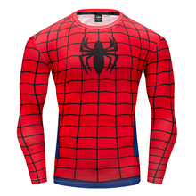 Spiderman Captain America Hulk T-Shirts 3D Printed compression T shirts Men Avengers Fitness Men's Sportswear Tights Long sleeve