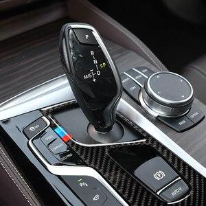 Image 5 - Automobiles Interior Carbon Fiber Gear Panel Decals Gear Shift Panel Car Stickers for BMW 5 Series 2018 G38 528i 530i 540i