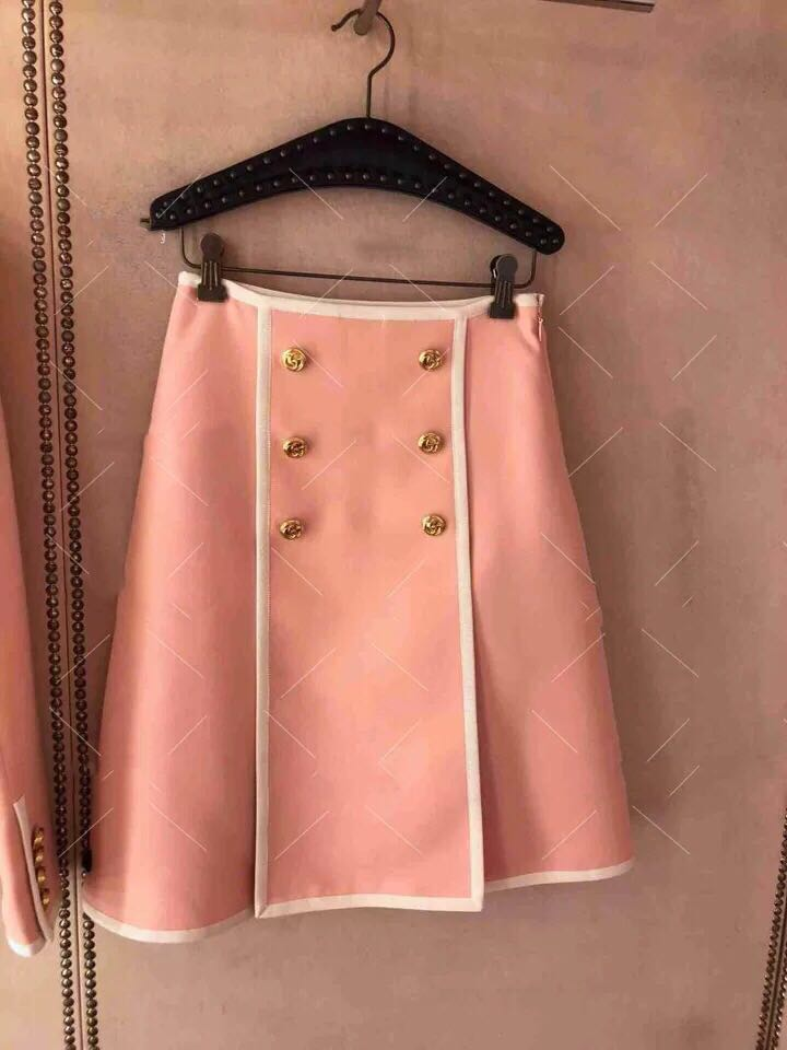 New  Spring   Metal Double   Buckle Bag Side Skirt Have  Big  Size