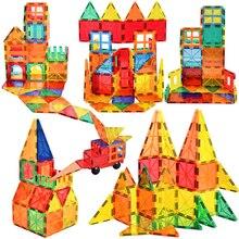 Big Size Tile Magnetic Constructor Designer Magnet Building Blocks Bricks Model With Magnetic Construction Set Toys For Children