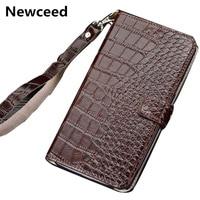 Hand strap genuine leather wallet phone case card slot holder for Google Pixel 3a XL/Google Pixel 3a magnetic book flip case