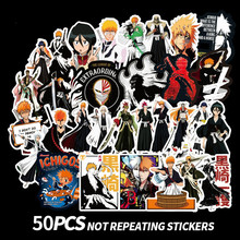 50Pcs/pack BLEACH Stickers Japanese Anime Manga for Laptop Case Car Motorcycle Skateboard Luggage Guitar