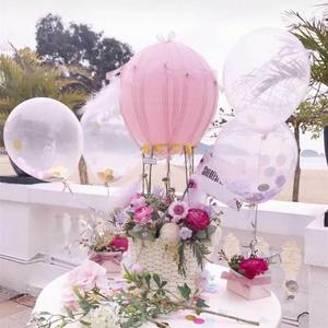 Image 5 - 5/10/12/18/24/36 インチ厚さの透明なラテックス風船透明風船ウェディングパーティー誕生日デコレーションインフレータブル空気ボール