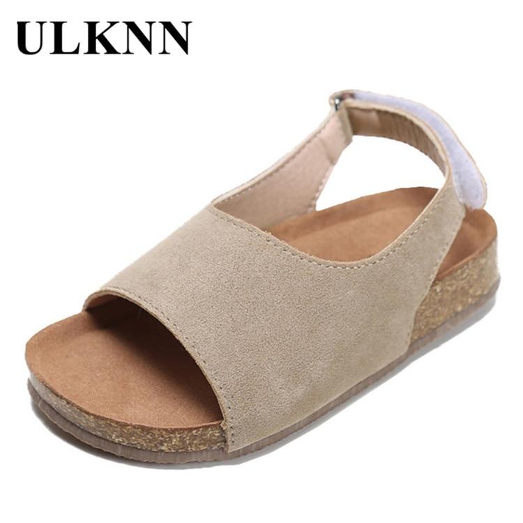 ULKNN Literature Art Kid's Sandals 2020  Summer Soft Anti-slip Wear-Resistant Casual Bockenheim Cork  Children Sandals