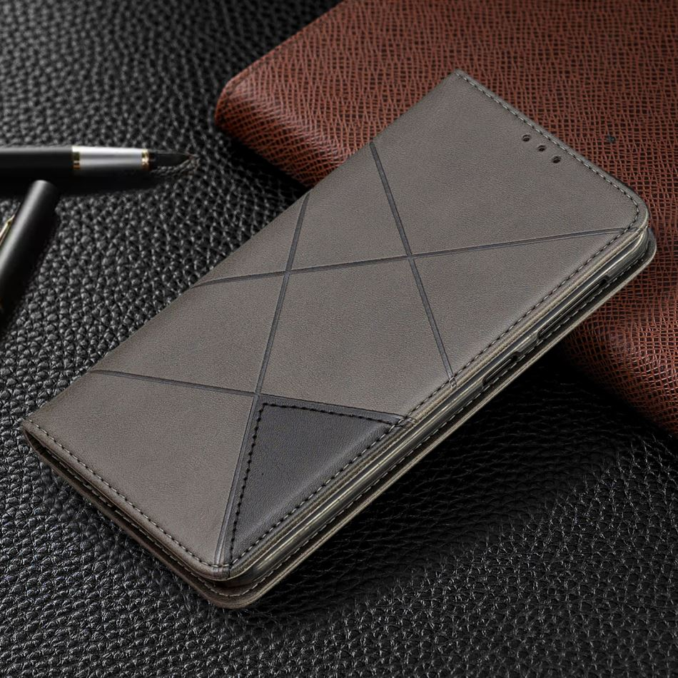 Magnetic Flip Fundas For Cover <font><b>Nokia</b></font> 1 Plus <font><b>2019</b></font> Man Wallet For <font><b>Nokia</b></font> 2.2 <font><b>3.2</b></font> 4.2 Lozenge Case Leather Phone Bags Card Slot E07H image