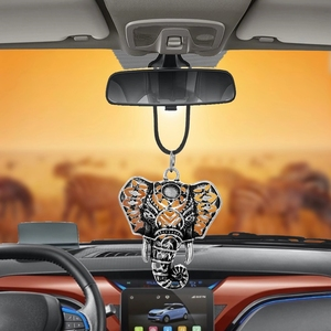 Car Pendant Elephant Head Ornaments Interior Rearview Mirror Decoration Hanging Decor Lucky Family Friends Gift Car Accessories