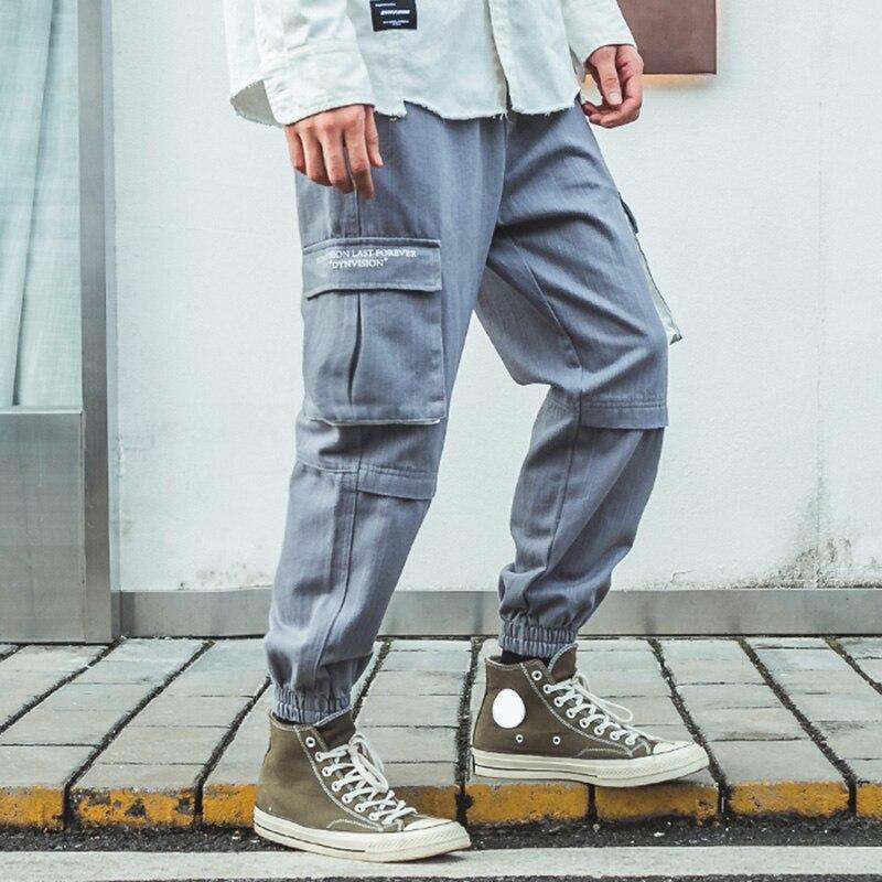Image 4 - Men Joggers Streetwear Cargo Pants Hip Hip Harajuku Harem Pants  2019 Autumn Casual Tactical Pants Pockets Track Trousers CottonCargo  Pants