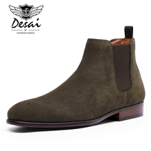 New Style Men's Full-grain Leather Retro Martin Boots Fashion British-Style Business Plus-sized Leather Shoes Winter Plus Velvet цены онлайн