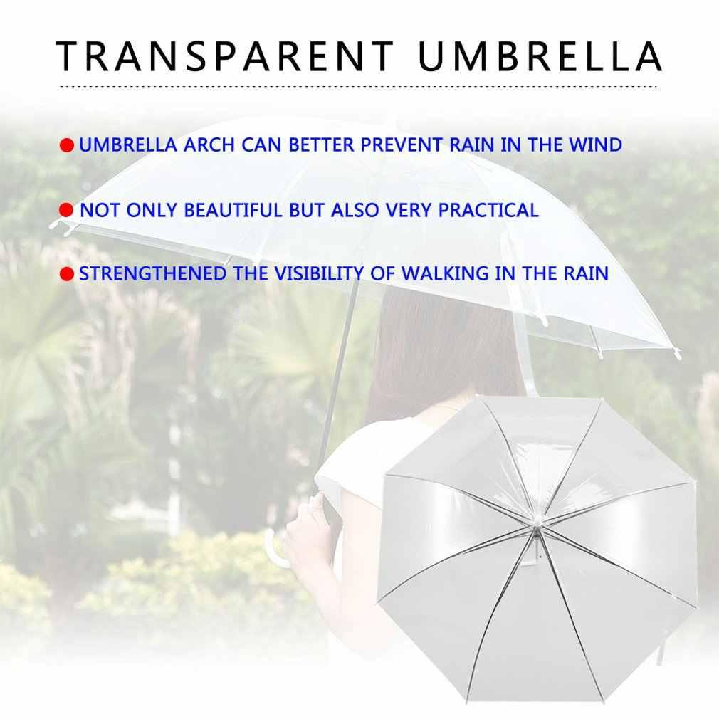 يندبروف موضة شفافة واضحة مظلة أوتوماتيكية المظلة لحفل زفاف لصالح الوقوف داخل المطر حماية