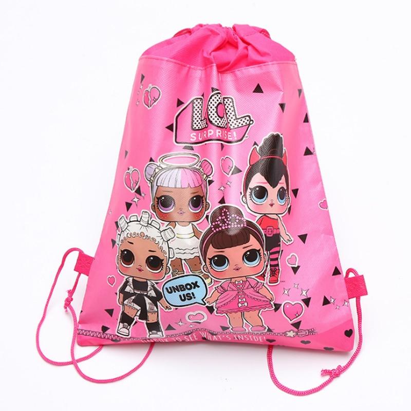 Originale Fascio Tasca del Sacchetto di Immagazzinaggio Non tessuto Shopping Bag In Tessuto lol sorpresa bambole Anmie Figure Giocattoli per I Bambini lol bambole