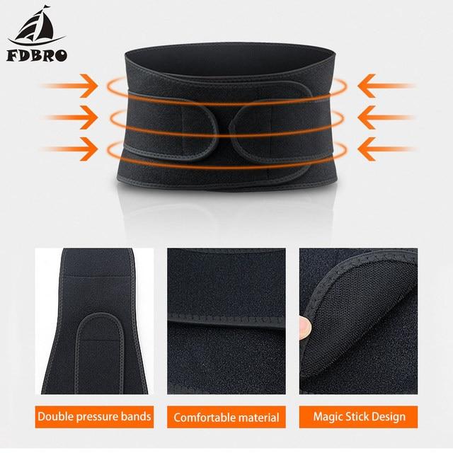FDBRO Waist Support Corset Sport Breathable Adjustable Back Belt Slimming Boxing Body Protective Gear Waist Trimmer Sweat Belt 4