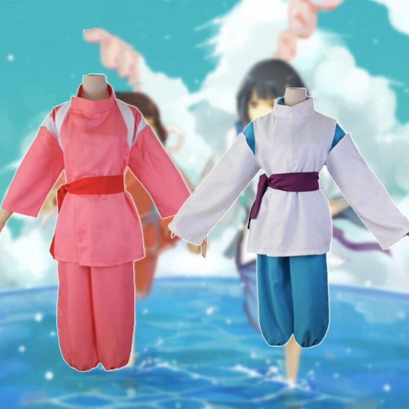 Anime Spirited Away Cosplay Costumes Chihiro Ogino Cosplay Costume Uniform Halloween Party Haku Sen To Chihiro No Kamikakushi Anime Costumes Aliexpress
