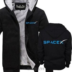 Image 4 - SPACEX พื้นที่ X SPACE X ELON MUSK พัดลมวิทยาศาสตร์โลโก้ hoodie FALCON Men hoodies หนาเสื้ออบอุ่น sbz4464