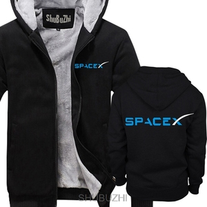 Image 4 - Spacex 社スペース × SPACE X エロンムスクファン宇宙科学ロゴパーカーファルコン男性厚いパーカー暖かいコート sbz4464