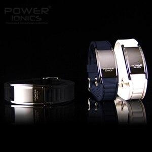 Image 4 - Potência ionics antifadiga silicone titanium íons equilíbrio turmalina germânio encantos pulseira pulseiras rotulação livre