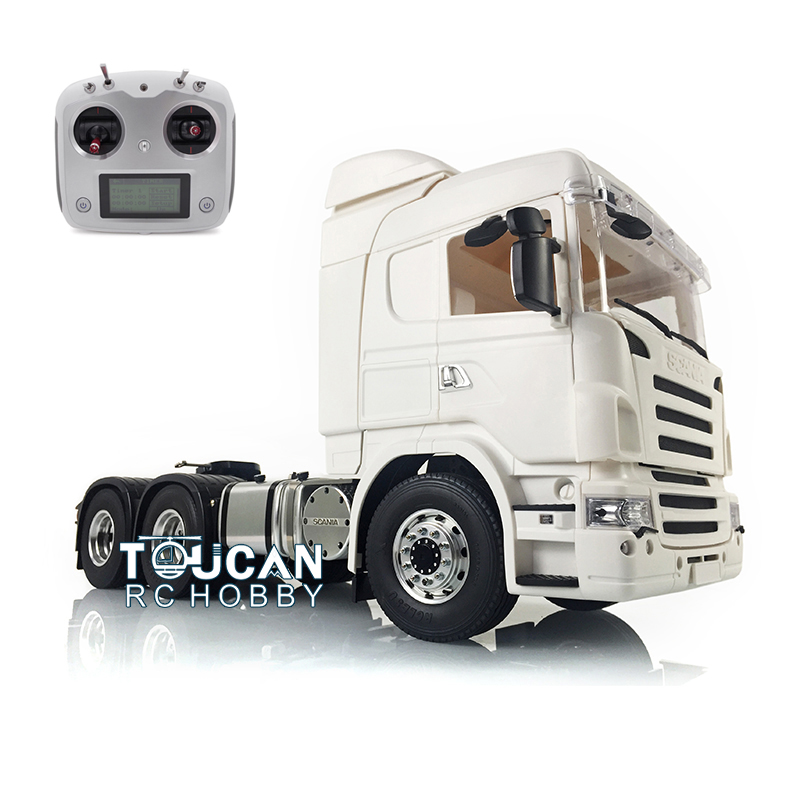1/14 LESU RC 6*6 Sca Metal Chassis Tractor Truck DIY Her Cab 320A ESC Radio Controller THZH0316