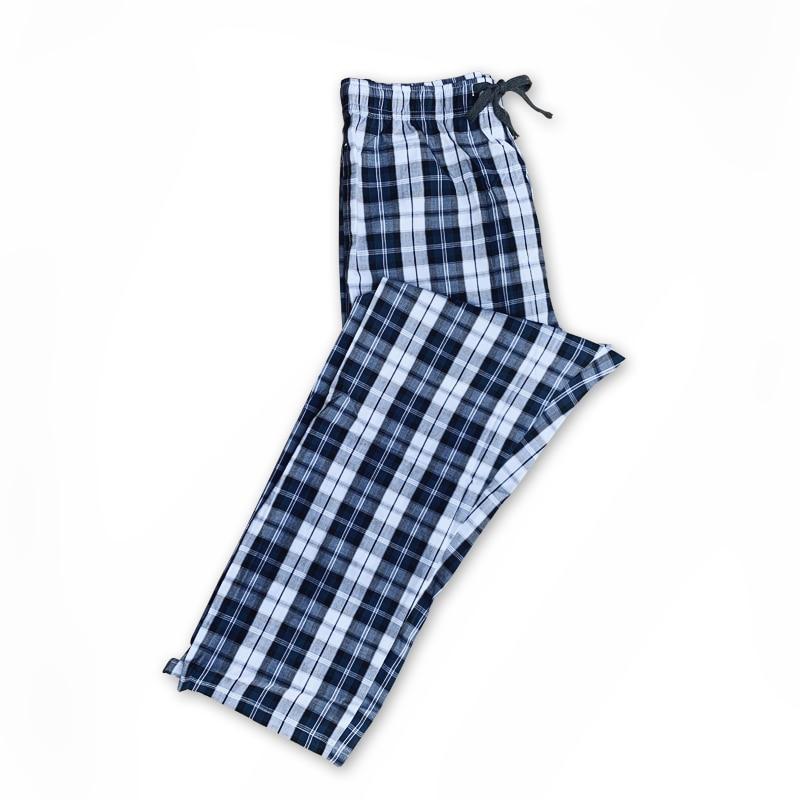 Men's 100% Cotton Plaid Knitted Pajamas Men's Bottoms Pajamas Men's Pajamas Home Wearn Pa Men's Cottojamas