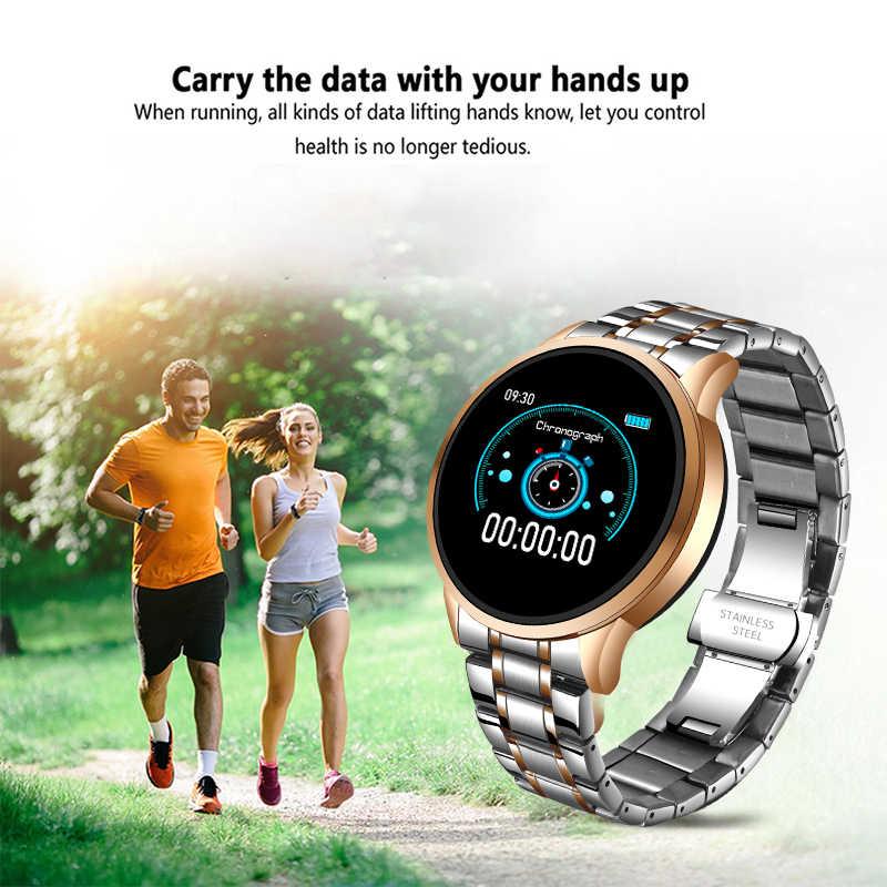 Lige novo relógio inteligente, unissex, à prova d' água, esportivo, para iphone, frequência cardíaca, pressão sanguínea, smartwatch