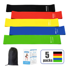 Yoga Resistance Rubber Bands Folded Fitness Equipment for Home Sport Training Workout Elastic Sets 5 Colors Bodybuilding