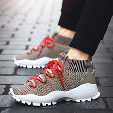 SITAILE Spring And Summer Casual Shoes Fashion Mens Lace-Up Breathable Sneakers Trainers Zapatillas Hombre