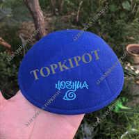 ROYAL BLUE ผ้าลินิน KIPAS TURQUOISE โลโก้เย็บปักถักร้อย