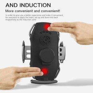 Image 4 - 10 ワット自動クランプワイヤレス充電器自動車電話ホルダー samsaung 高速ワイヤレス充電 × 8 チーワイヤレス充電器