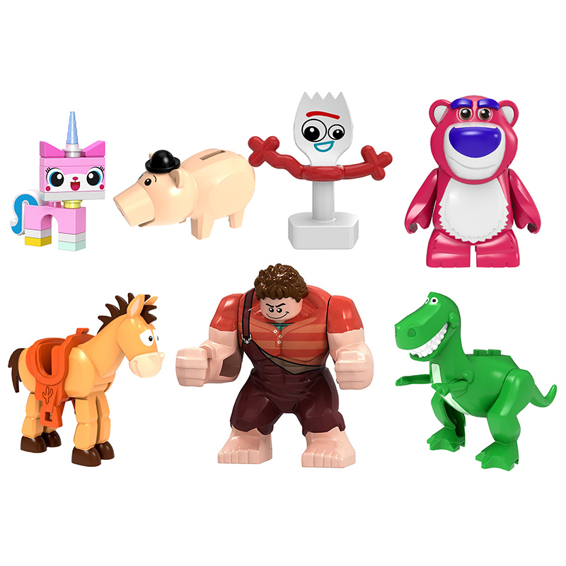 Toys Story Forky Woody Jessie Toy Aliens Bulleye Rex Hamm Building Blocks action figure diy model Toy for children gifts(China)