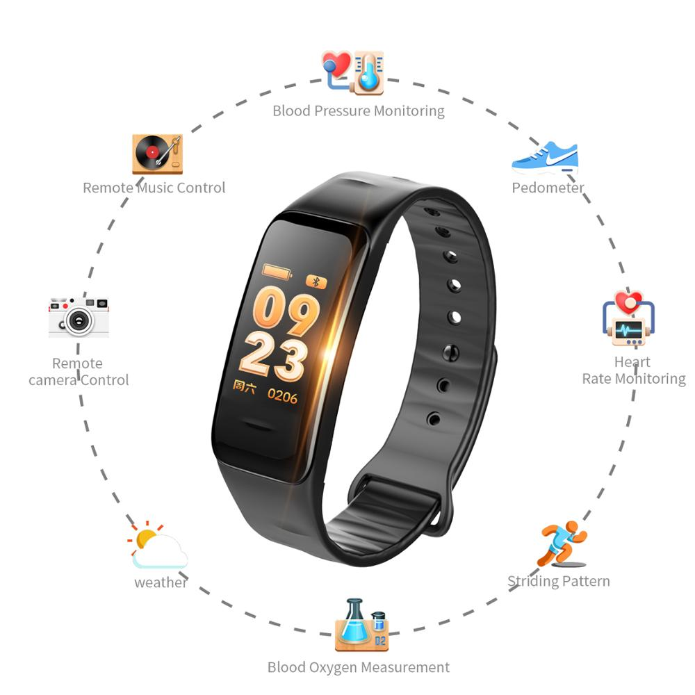 Color Screen C1S Smart Bracelet VS Fitness Waterproof Activity Heart Rate Monitor Blood Pressure Tracker
