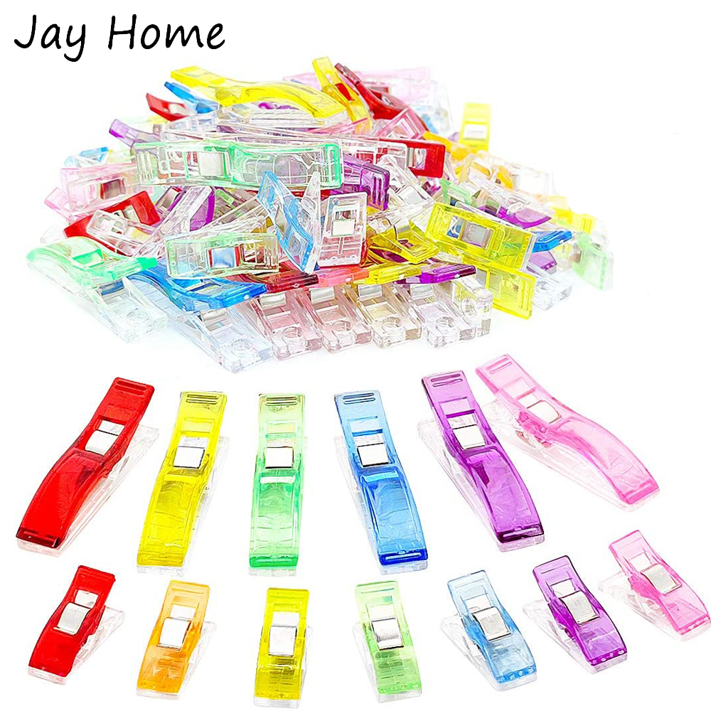 20/10pcs Large Sewing Clips Multipurpose Plastic Quilting Clip Fabric Clips Clamps for DIY Knitting Quilting Supplies Crafting